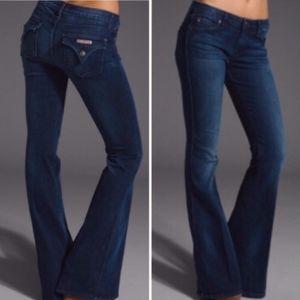 Hudson Dark Wash Wide Leg Flare Jeans Size 30